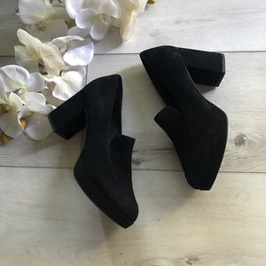 Eileen fisher black becon pumps 8.5
